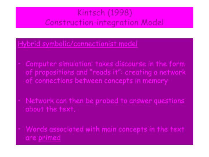 Kintsch (1998)