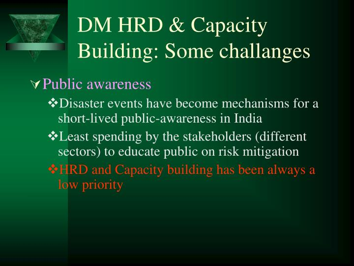 DM HRD & Capacity Building: Some challanges