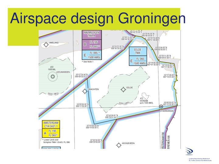 Airspace design Groningen