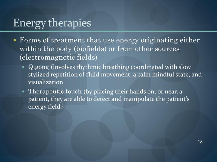 Energy therapies