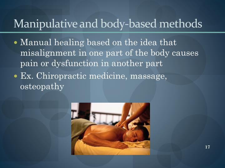Manipulative and body-based methods