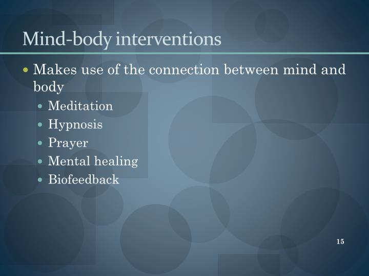 Mind-body interventions