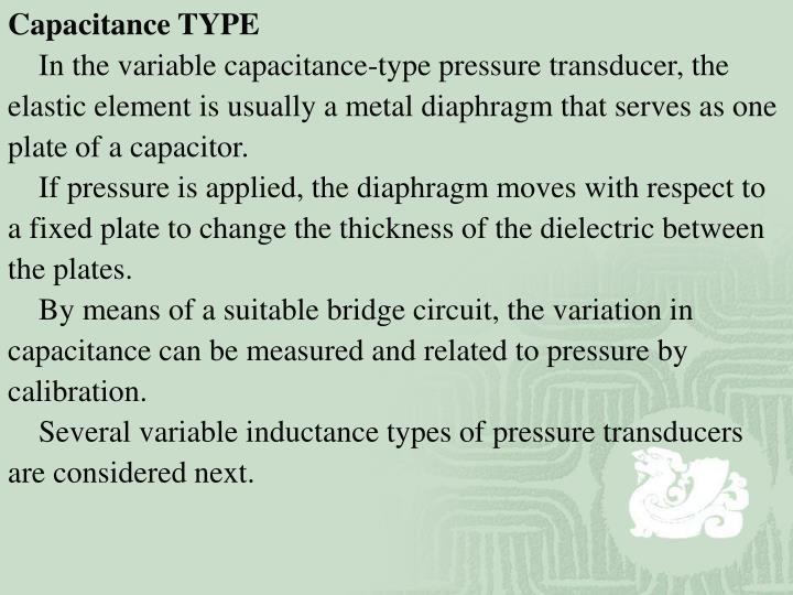 Capacitance TYPE