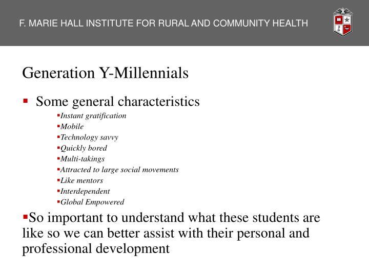 Generation Y-Millennials