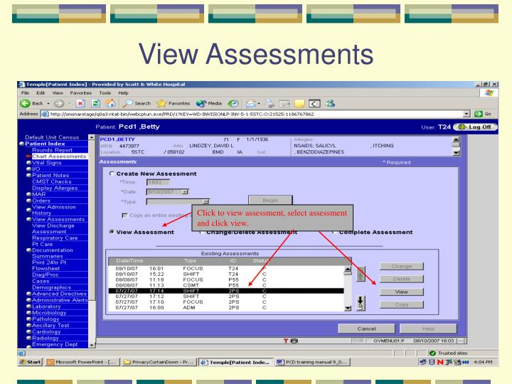 View Assessments