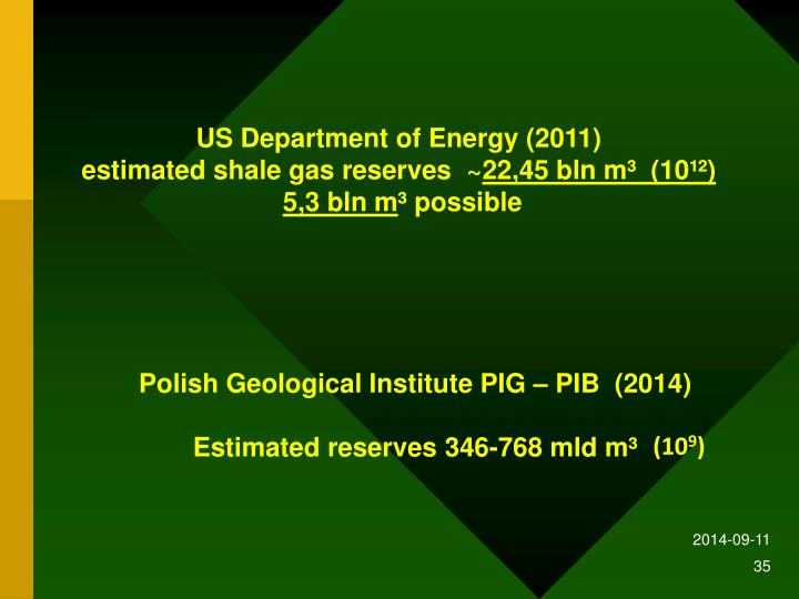 US Department of Energy (2011)