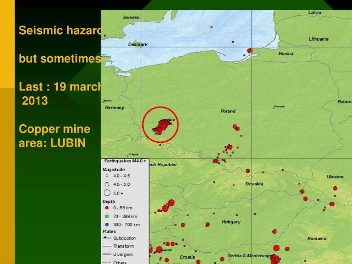 Seismic hazards in Poland very low,