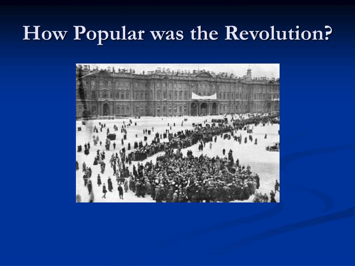 How Popular was the Revolution?