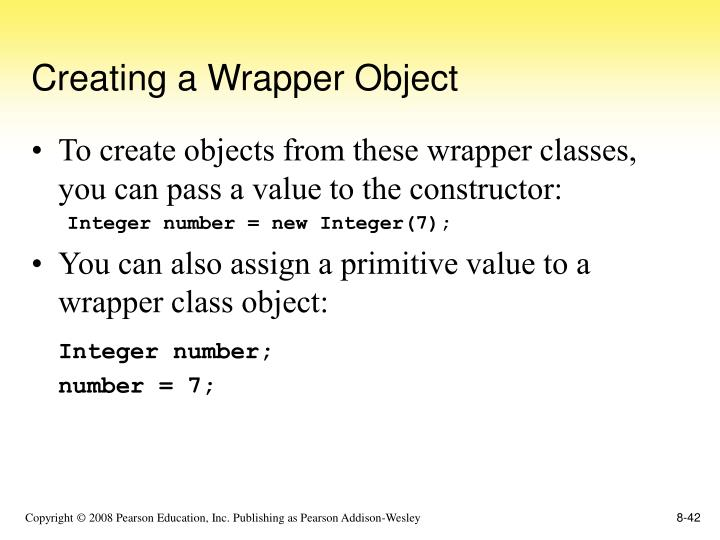 Creating a Wrapper Object