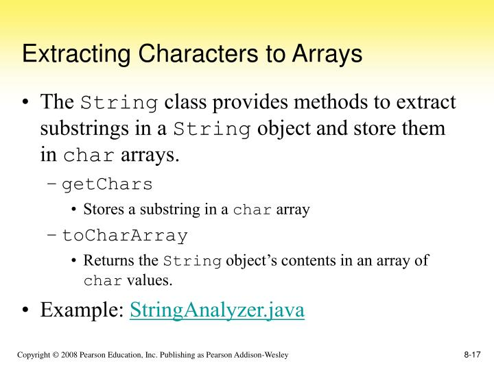 Extracting Characters to Arrays