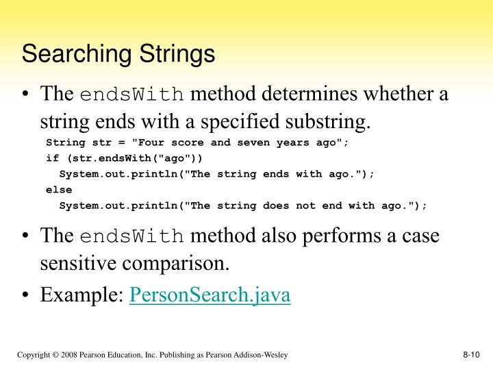 Searching Strings