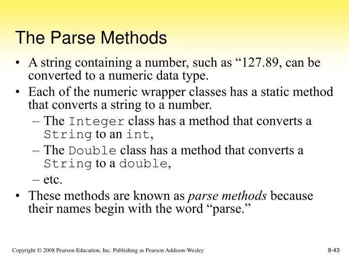 The Parse Methods