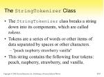 the stringtokenizer class