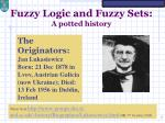 fuzzy logic and fuzzy sets a potted history