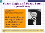 fuzzy logic and fuzzy sets a potted history1