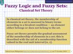 fuzzy logic and fuzzy sets classical set theory