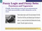 fuzzy logic and fuzzy sets fuzziness and vagueness4