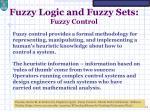 fuzzy logic and fuzzy sets fuzzy control