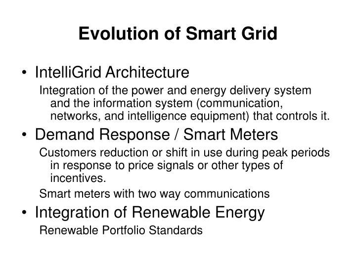 Evolution of Smart Grid