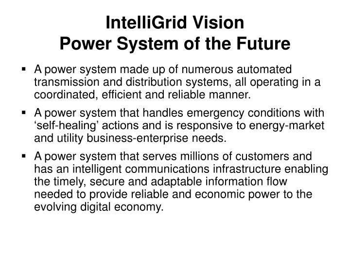IntelliGrid Vision