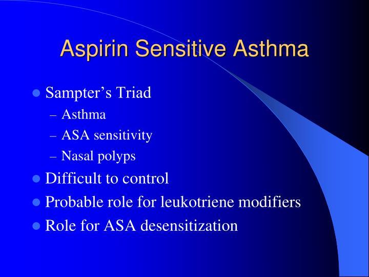 Aspirin Sensitive Asthma