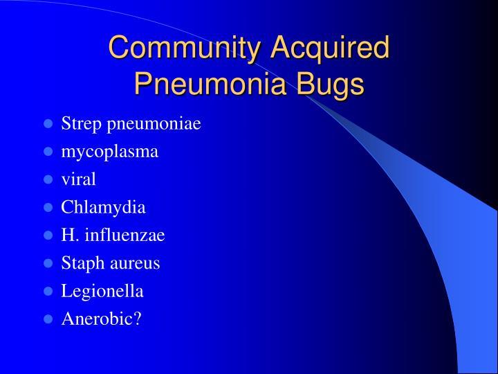 Community Acquired Pneumonia Bugs