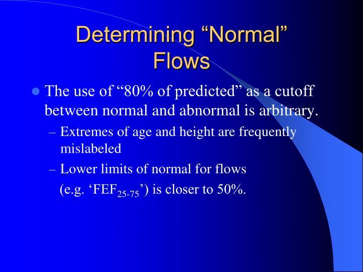 "Determining ""Normal"""