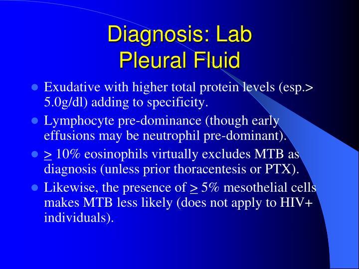Diagnosis: Lab