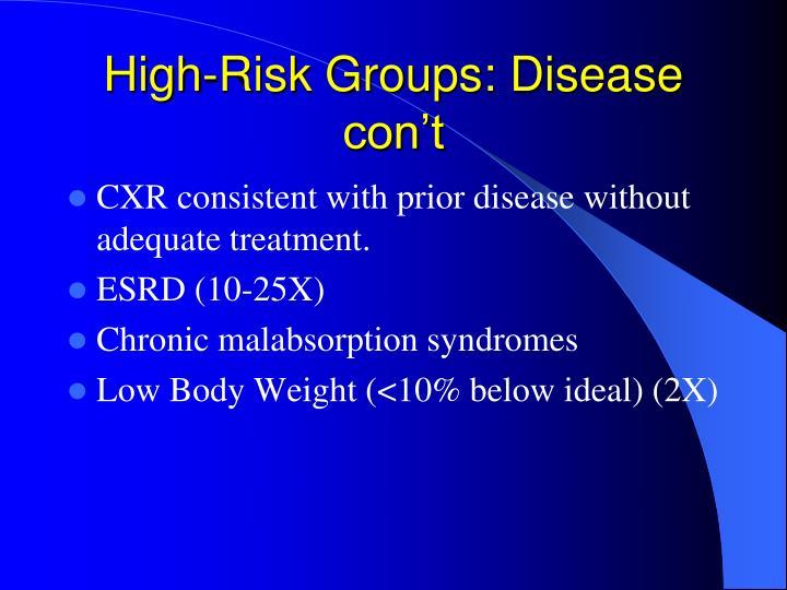 High-Risk Groups: Disease