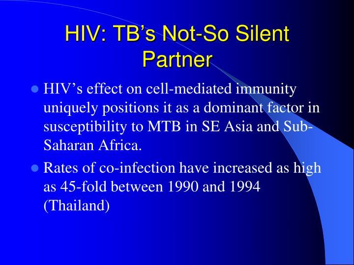 HIV: TB's Not-So Silent Partner