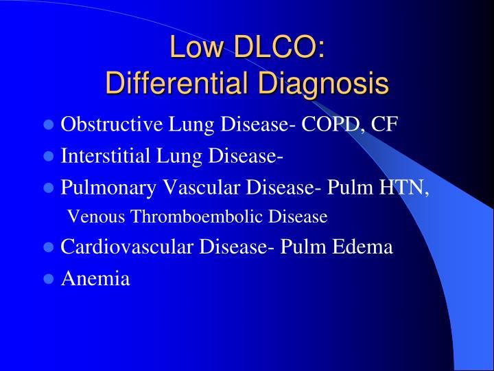 Low DLCO: