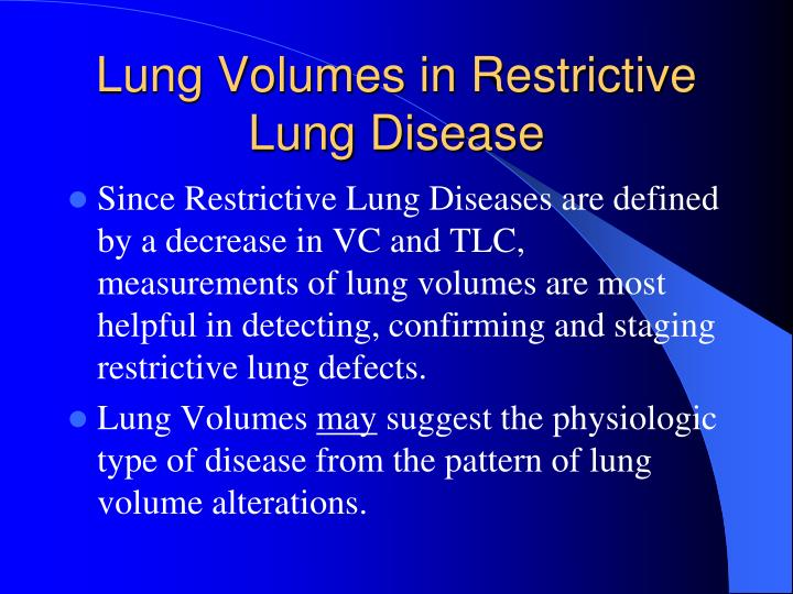 Lung Volumes in Restrictive Lung Disease