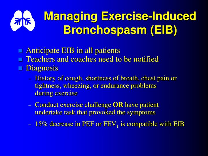 Managing Exercise-Induced Bronchospasm (EIB)