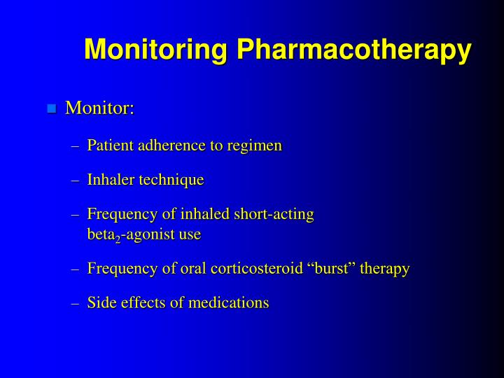 Monitoring Pharmacotherapy