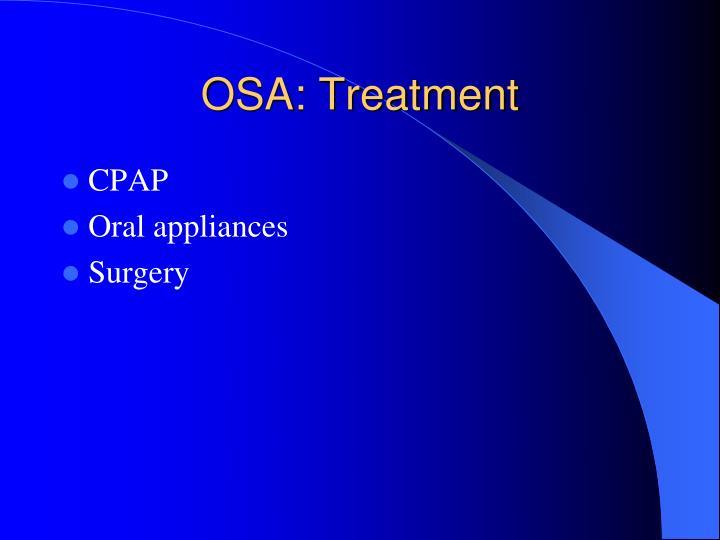 OSA: Treatment