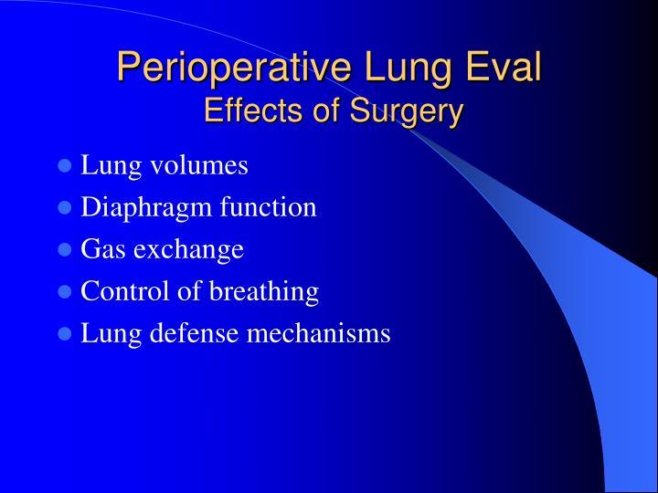 Perioperative Lung Eval