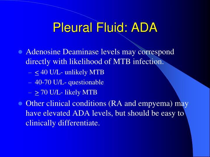 Pleural Fluid: ADA
