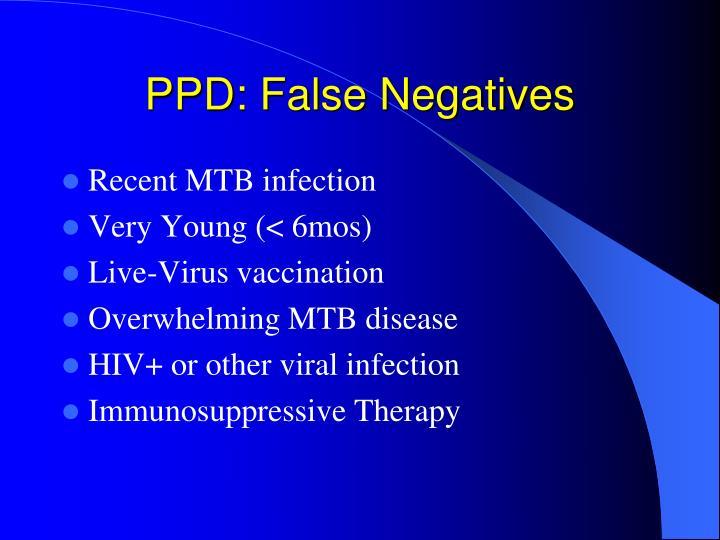 PPD: False Negatives