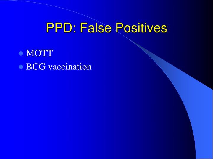 PPD: False Positives