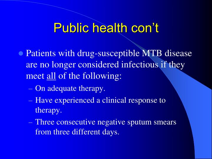 Public health con't