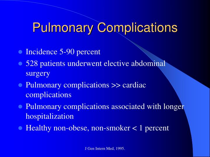 Pulmonary Complications