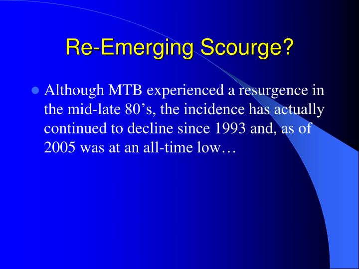 Re-Emerging Scourge?