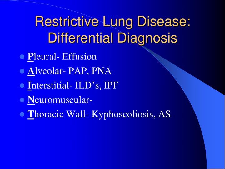 Restrictive Lung Disease: