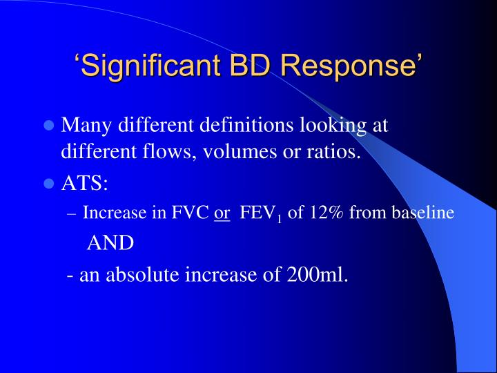 'Significant BD Response'