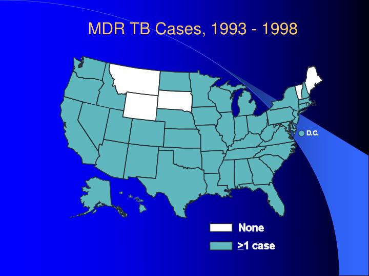 MDR TB Cases, 1993 - 1998