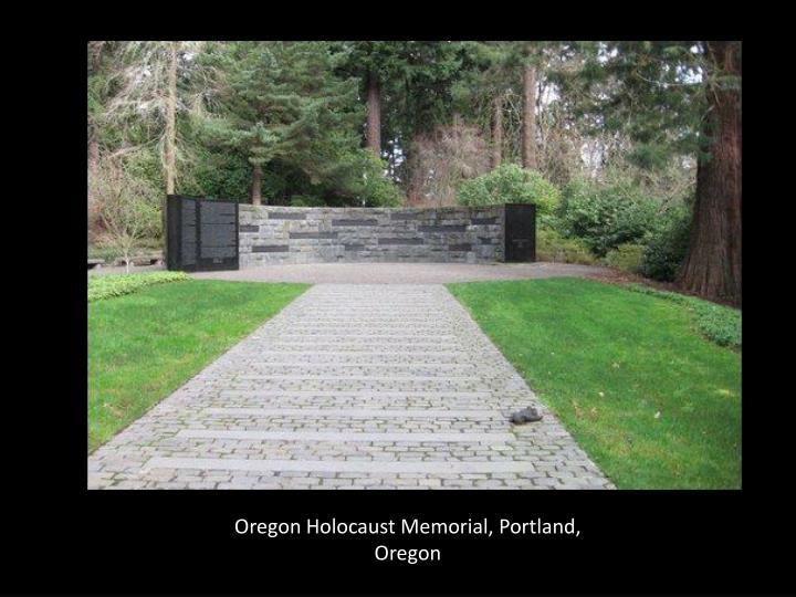 Oregon Holocaust Memorial, Portland, Oregon