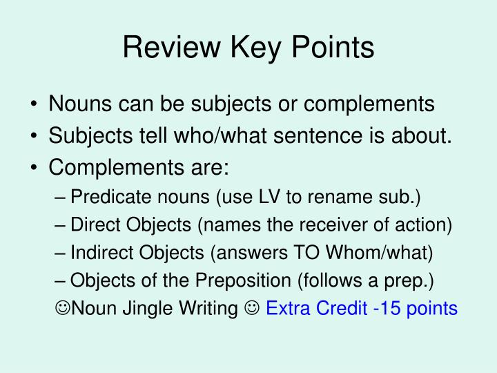 Review Key Points