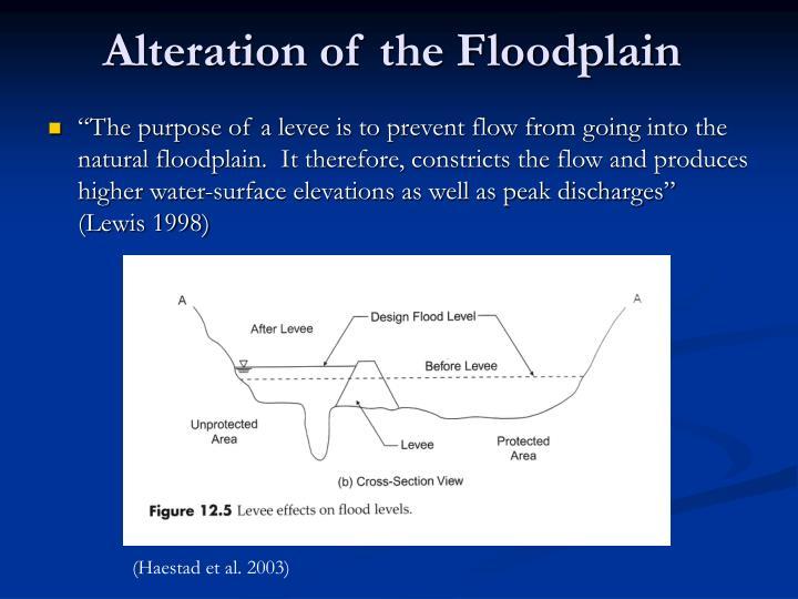 Alteration of the Floodplain