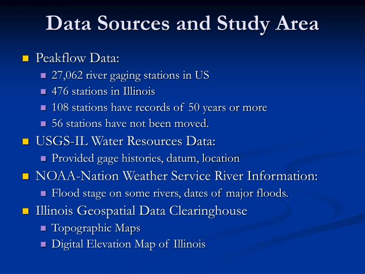 Data Sources and Study Area