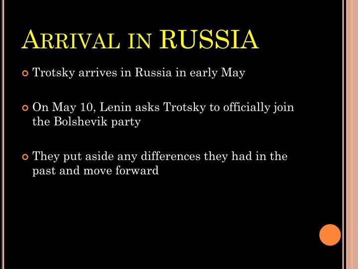 Arrival in RUSSIA